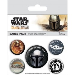 MANDALORIAN - This Is The Way - Pack 5 badges 184346  Pin & Spelden