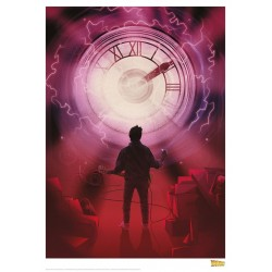 BACK TO THE FUTURE - Clock - Art Print Collector '42x30' 184476  Posters