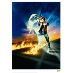 BACK TO THE FUTURE - Time Flies - Art Print Collector '42x30' 184479  Posters