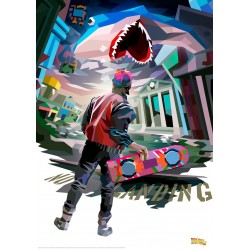 BACK TO THE FUTURE - Vector - Art Print Collector '42x30' 184482  Posters