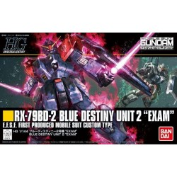 GUNDAM - HG RX-79BD-2 Blue Destiny Unit 2 'EXAM' 1/144 - Model Kit 184791  High Grade (HG)