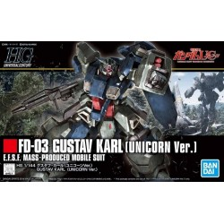 GUNDAM - HGUC 1/144 E.F.S.F. Gustav Karl (Unicorn ver.) - Model Kit 185265  High Grade (HG)