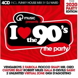 I love The 90s - The Party (2020) (4CD) 2387  CD's