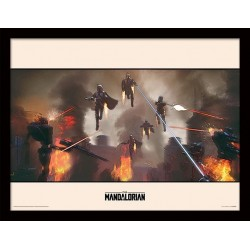STAR WARS - The Mandalorian Assemble - Framed Print 30x40cm