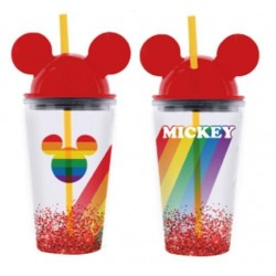DISNEY - Mickey Rainbow Cup with Straw