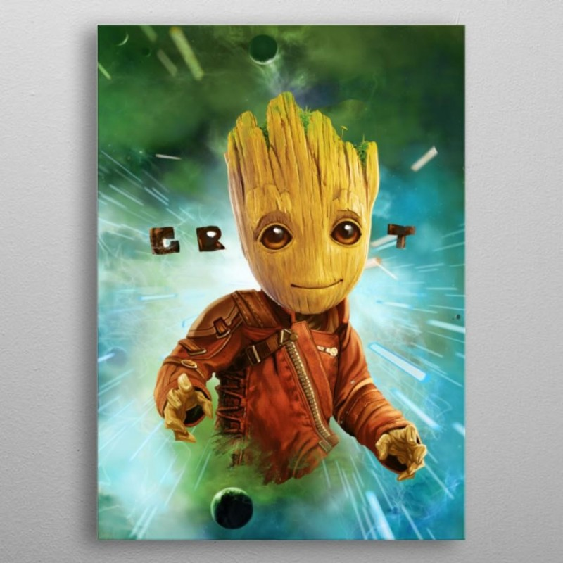 GUARDIANS OF THE GALAXY 2 - Magnetic Metal Poster 31x21 - Groot 166608  Magnetische Posters