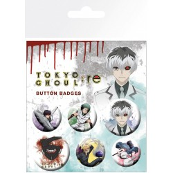 TOKYO GHOUL - Mix - Pack 5 badges 188317  Pin & Spelden