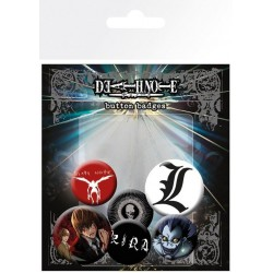 DEATH NOTE - Mix - Pack 5 badges 188321  Pin & Spelden