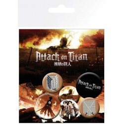 ATTACK ON TITAN - Mix - Pack 5 badges 188324  Pin & Spelden