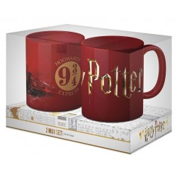 HARRY POTTER - Pack 2 Ceramic Mug - Logo & Hogwarts Express 171052  Harry Potter Bekers