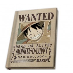 ONE PIECE - Wanted Luffy - Notebook A5