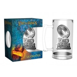 LORD OF THE RINGS - The One Ring - Bier Glas Metal Badge 500ml