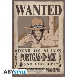 ONE PIECE - Poster 91X61 - Wanted Ace 166329  Posters