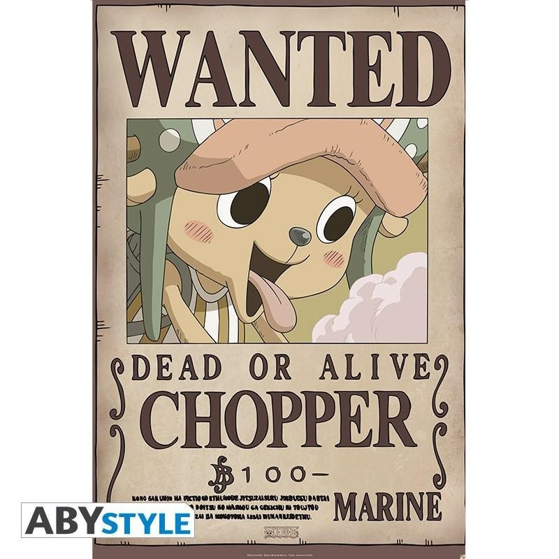 ONE PIECE - Poster 91X61 - Wanted Chopper 166328  Posters
