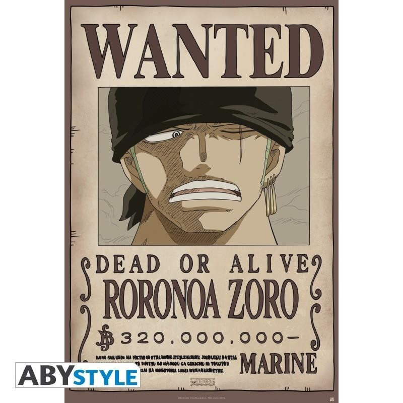 ONE PIECE - Poster 91X61 - Wanted Zoro 166327  Posters