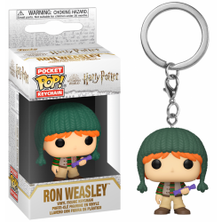 HARRY POTTER - Pocket Pop Keychain - Holiday Ron Weasley 188944  Funko Pops