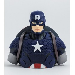 MARVEL - Money Box Blister Box - Captain America Bust 20 cm