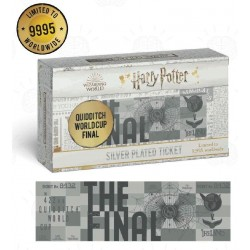 HARRY POTTER - Quidditch World Cup - Silver Plated Collector Ticket