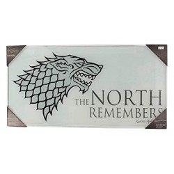 GAME OF THRONES - GLASS PRINT - The North - 60X30 cm