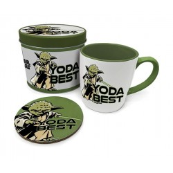 STAR WARS - Yoda Best - Beker & coaster in metal tin