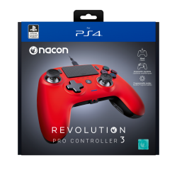 NACON REVOLUTION PRO 3 OFFICIAL CONTROLLER PS4 - RED 189409  PS4 Controllers