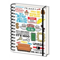 FRIENDS - The One with the Quotes - Notebook A5 189462  Notitie Boeken