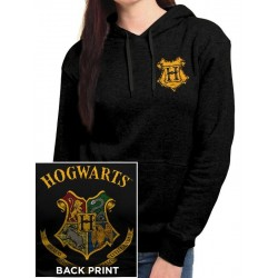 HARRY POTTER - Hooded Sweatshirt GIRL - Hogwarts (M)