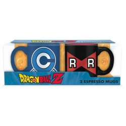 DRAGON BALL - Capsule C vs Ruban - Set of 2 espresso Bekers 110ml