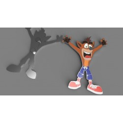 CRASH BANDICOOT - Flat Metal Bottle Opener with Magnet. 166122  Magneten