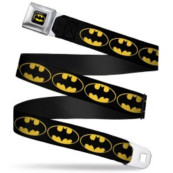 BATMAN - Belt (Kids)- 31/66 - 2,5 Cm - Black/Logo 166053  Riemen
