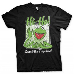 The MUPPETS - T-Shirt - Kermit the Frog Here ! (L) 178432  T-Shirts