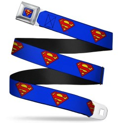 SUPERMAN - Belt (Kids)- 31/66 - 2,5 Cm - Blue/Logo 166044  Riemen