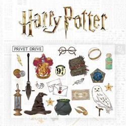 HARRY POTTER - Set of 22 self adhesive wall decals 191189  Allerlei