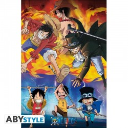 ONE PIECE - Ace, Sabo & Luffy - Poster '91x61' 191205  Posters