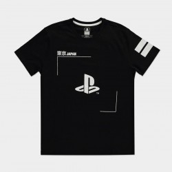 PLAYSTATION - Black & wit Logo - Men T-Shirt (L)