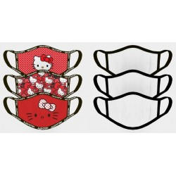 HELLO KITTY - Set of 3 Face Cover 191596  Mondmaskers