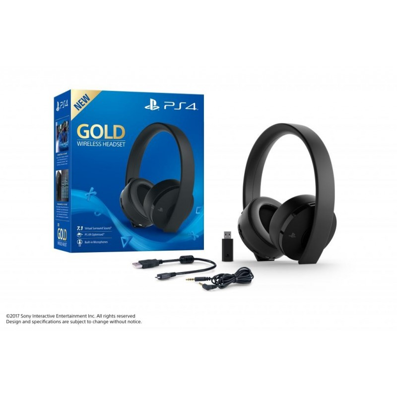 PS4 Wireless Stereo Headset Gold - Playstation 4  165955  PS4 Headsets