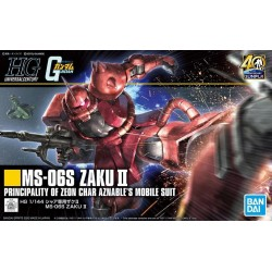 GUNDAM - HGUC 1/144 Gunpla 40th MS-06S Zaku II - Model Kit 191766  High Grade (HG)