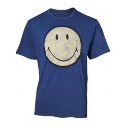 SMILEY - T-Shirt Premium - Faux Denim - Smiley (M) 165912  T Shirts alles