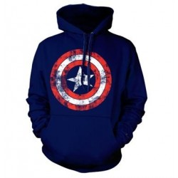 CAPTAIN AMERICA - Shield - Sweat Hoodie - (L)