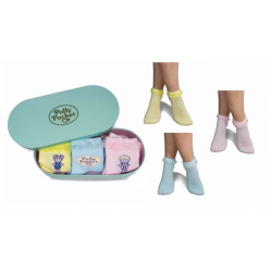POLLY POCKET - Pack 3 Ladies Socks in a Tin (35-39)