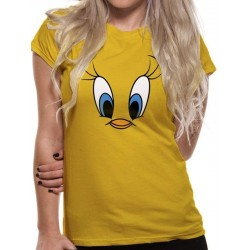 LOONEY TUNES - T-Shirt IN A TUBE- Tweety Face GIRL (L) 165831  T-Shirts