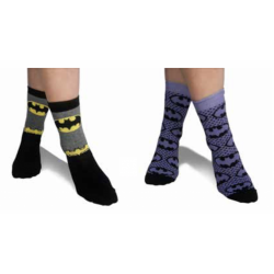 BATMAN - Pack 3 Ladies Socks Purple (35-39)