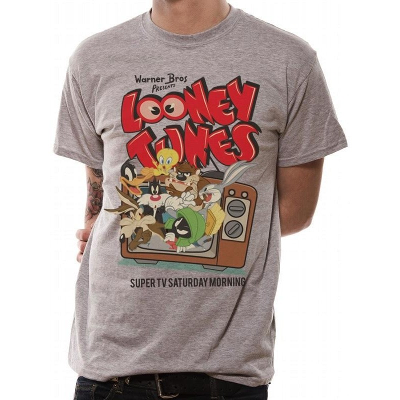 LOONEY TUNES - T-Shirt IN A TUBE- Retro TV (L) 165717  T-Shirts