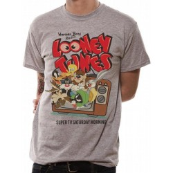 LOONEY TUNES - T-Shirt IN A TUBE- Retro TV (M) 165716  T-Shirts Looney Tunes