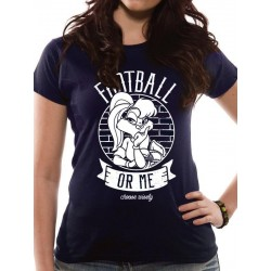 LOONEY TUNES - T-Shirt IN A TUBE- Football or Me GIRL (L) 165708  T-Shirts Vrouwen