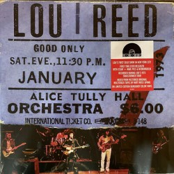 Lou Reed - Live At Alice Tully Hall - January 27 1973 (LP) 3458  LP's