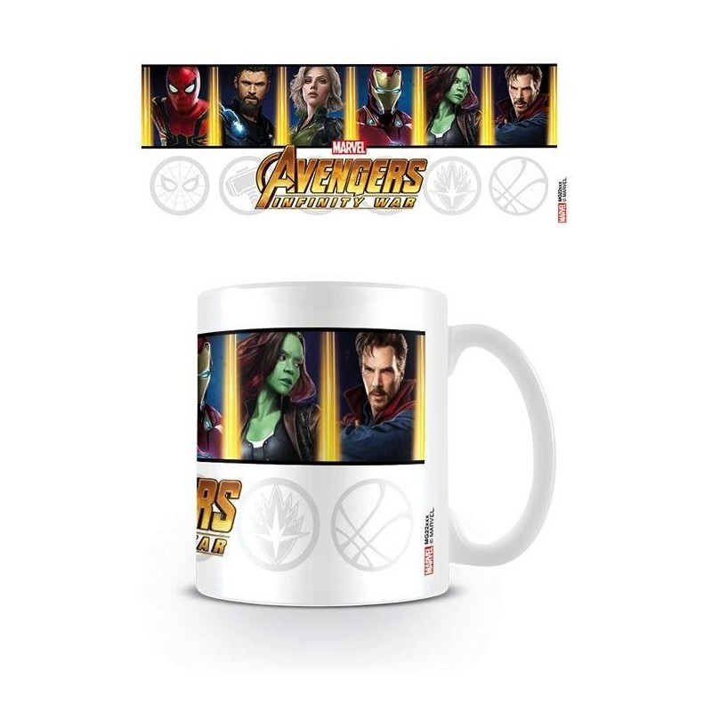 AVENGERS INFINITY WAR - Beker - 315 ml - Characters and Emblems