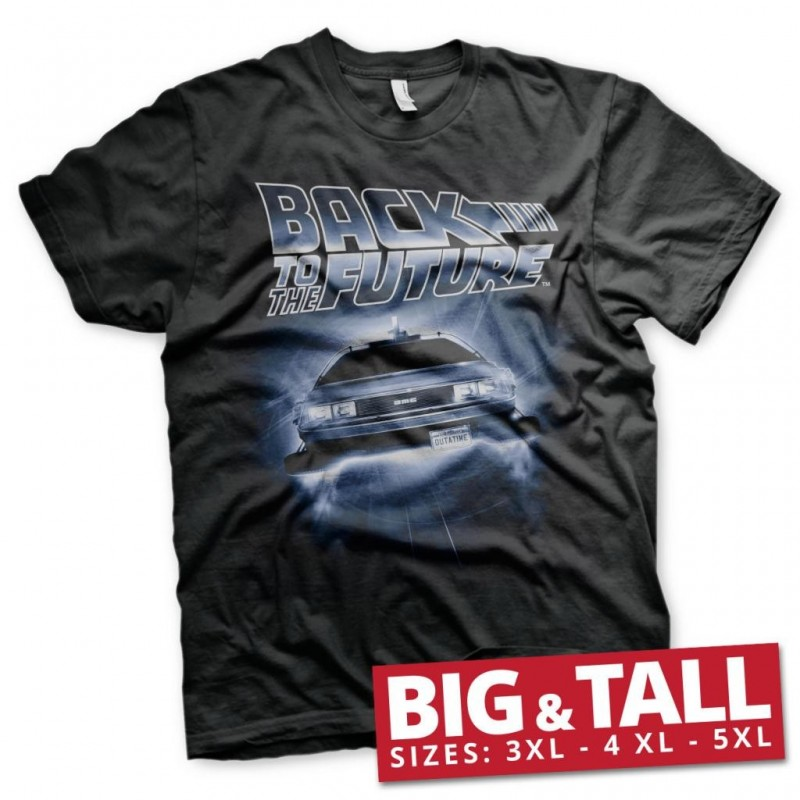 BACK TO THE FUTURE - T-Shirt Big & Tall - Flying Delorean (4XL)