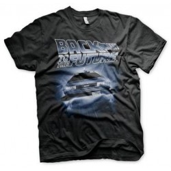 BACK TO THE FUTURE - Flying Delorean - T-Shirt (M) 186768  T-Shirts